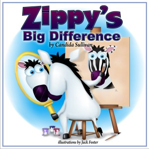 Zippy's Big Difference is a story about how Zippy the zebra came to accept that which makes him different from others. It deals with emotional struggles facing children today with disabilities and tackles some of the tough spiritual questions they have.